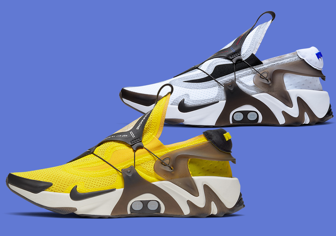 Nike Adapt Huarache White Yellow Bv6397 110 Bv6397 710 Store List Sneakernews Com