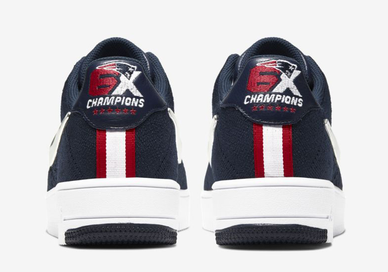 best cheap ca299 22a01 Nike Air Force 1 Flyknit New England Patriots Release Info