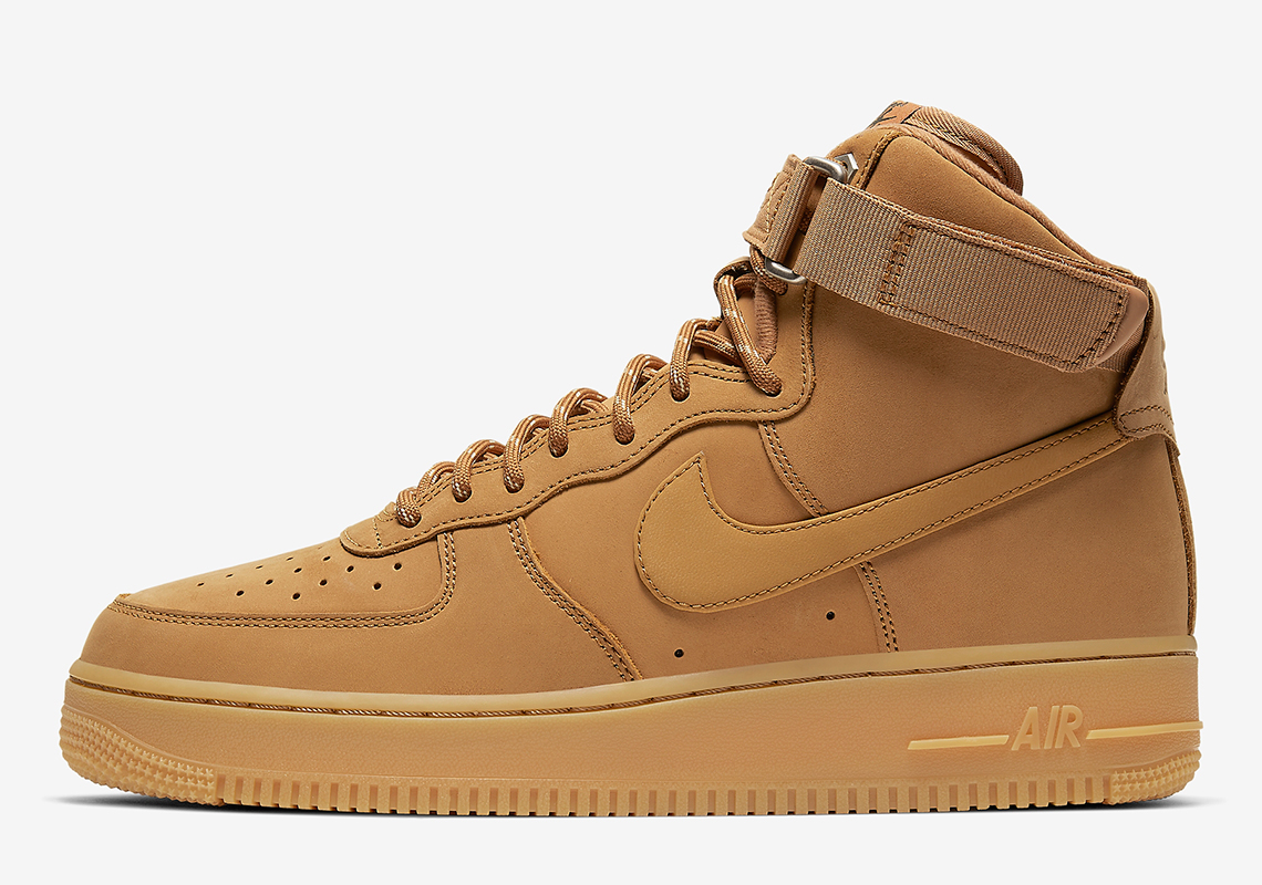 check out ebaa9 da25e Nike Air Force 1 High Flax CJ9178-200 Release Info ...