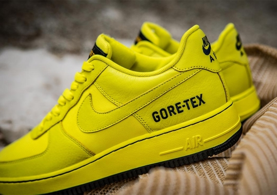 """The Nike Air Force 1 """"Gore-Tex"""" Gets A Hazard Yellow Colorway"""