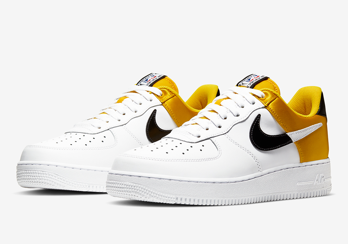 Nike Air Force 1 Low Nba Gold Satin Bq4420 700 Sneakernews Com
