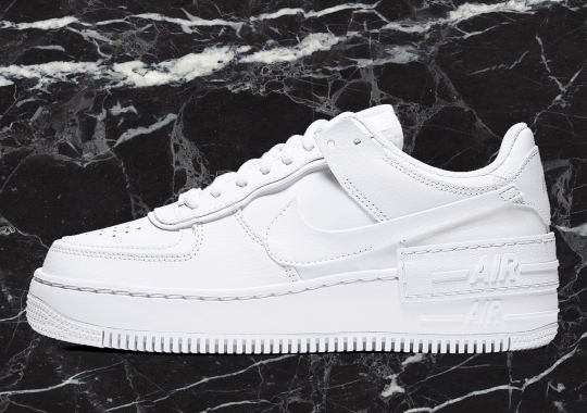The Nike Air Force 1 Low Shadow Appears In Classic All White