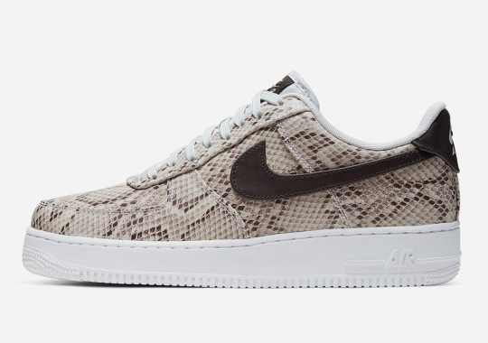 "Nike's Air Force 1 ""Snakeskin"" Is Inspired By NBA Tunnel Entrances"