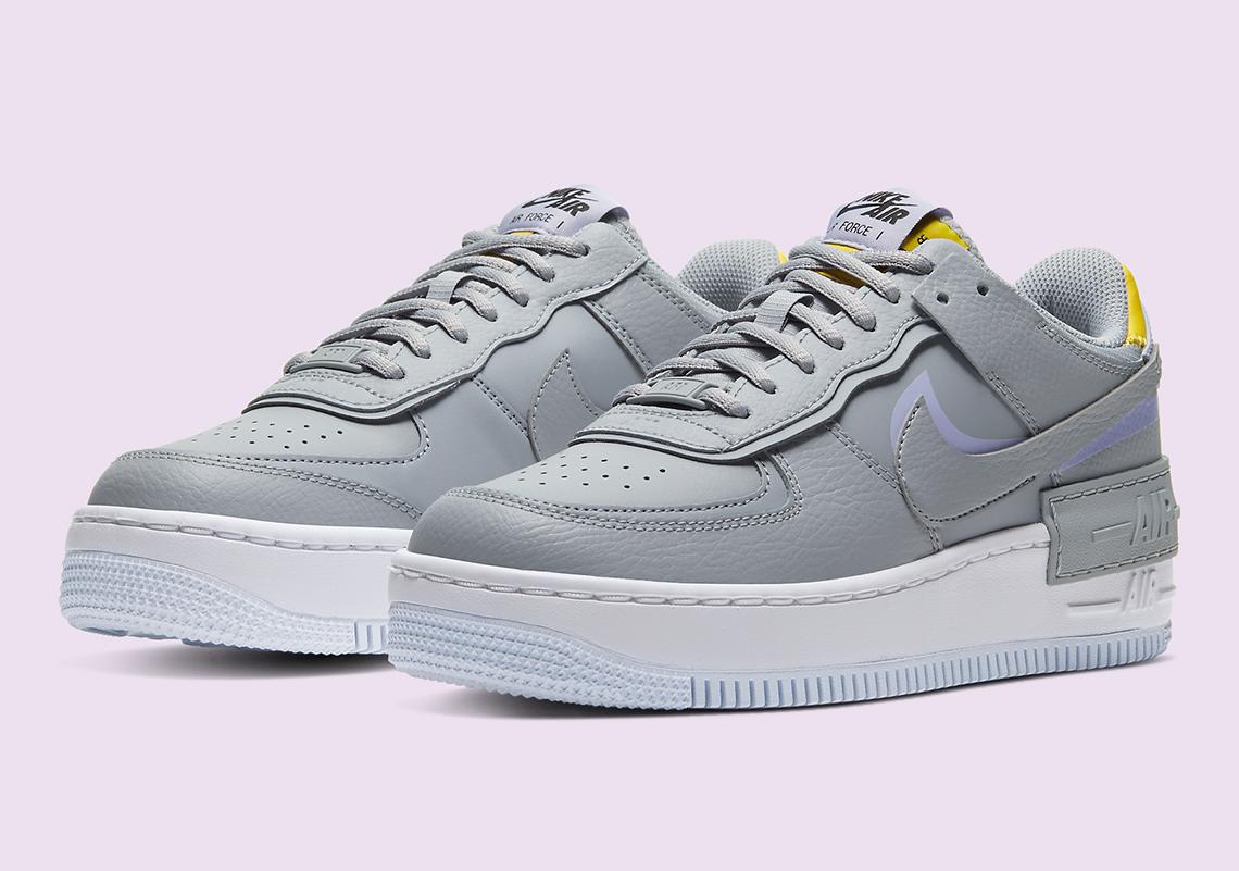 Nike Air Force 1 Shadow Ci0919 002 Grey Lavender Sneakernews Com Nike w af1 shadow se koko: nike air force 1 shadow ci0919 002 grey