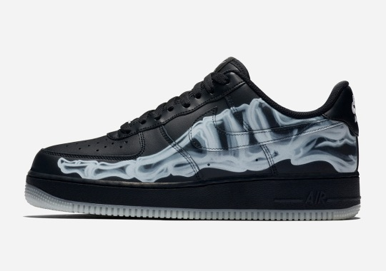 "Nike's Halloween Treats Include An All Black Colorway Of The Air Force 1 ""Skeleton"""