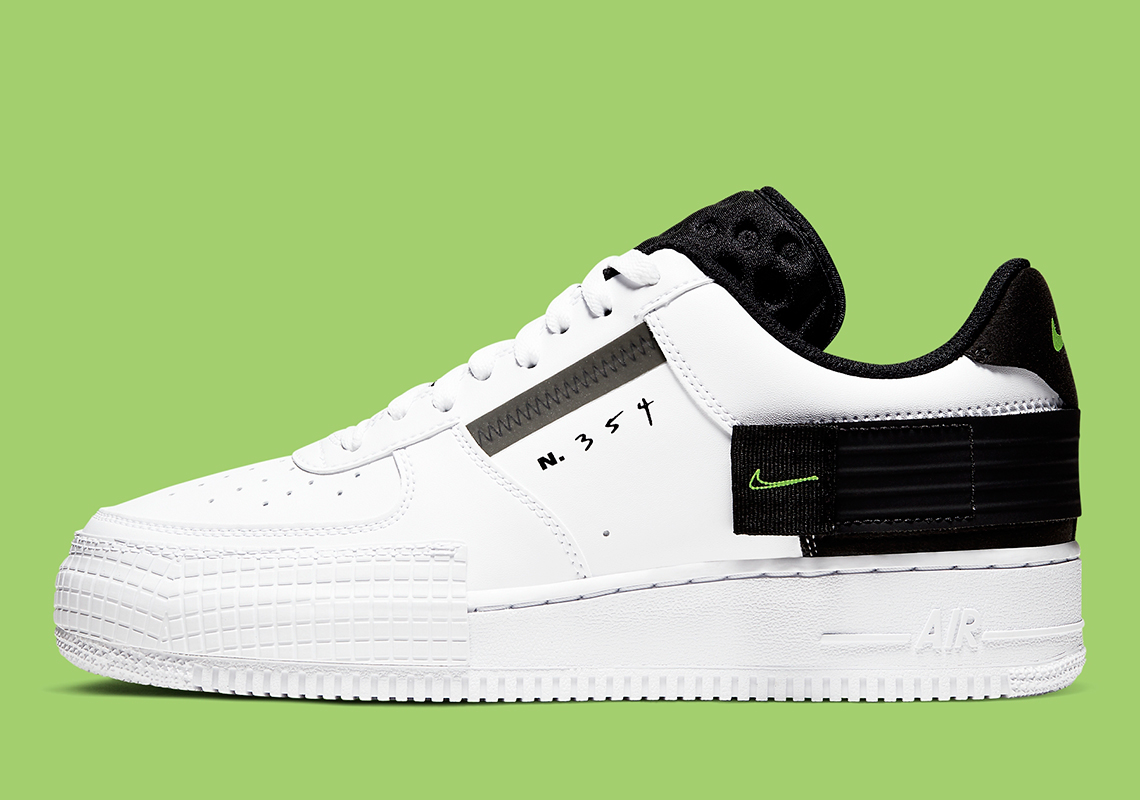 Nike Air Force 1 Type White Black Volt AT7859-101 Release ...