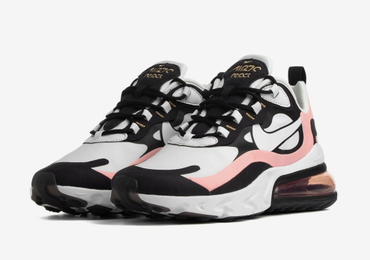 The Nike Air Max 270 React Adds Black And Shy Pink Tones