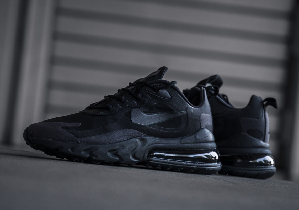 info for 99eef 5bd5e Nike Air Max 270 React Triple Black AO4971-003 Release Date ...