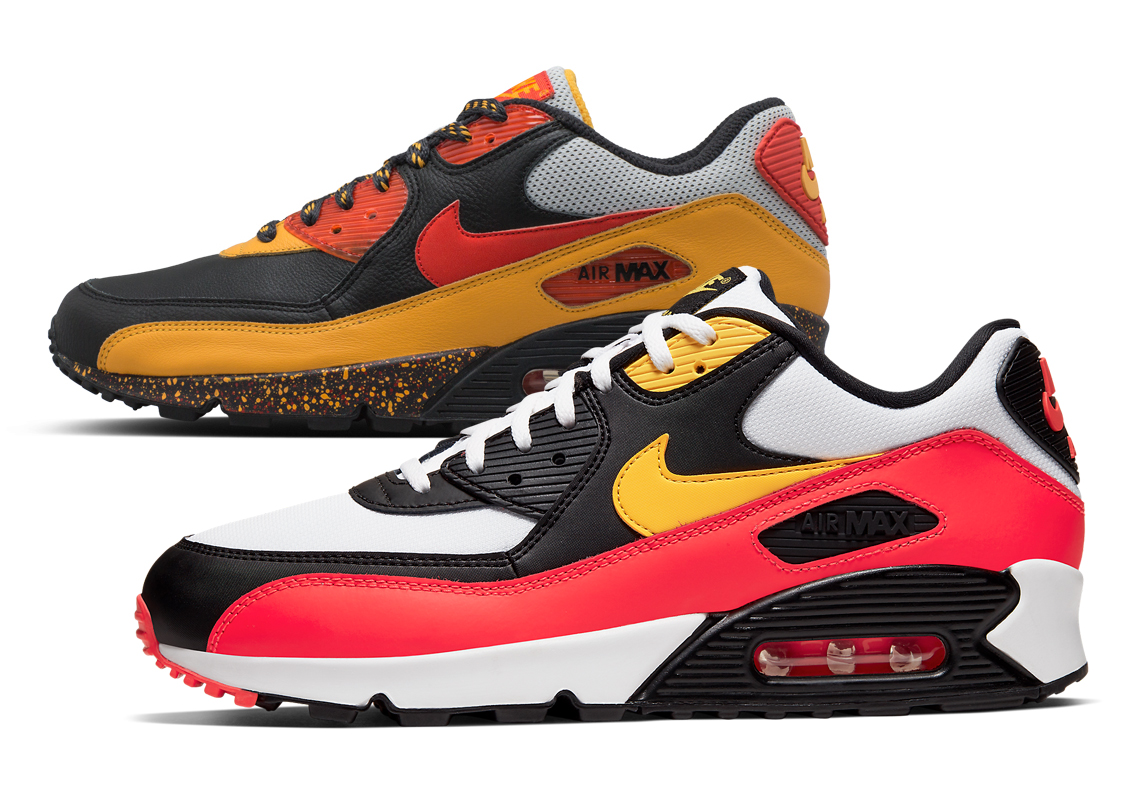 Nike Air Max 90 Black Red Yellow Aj1285 109 Sneakernews Com