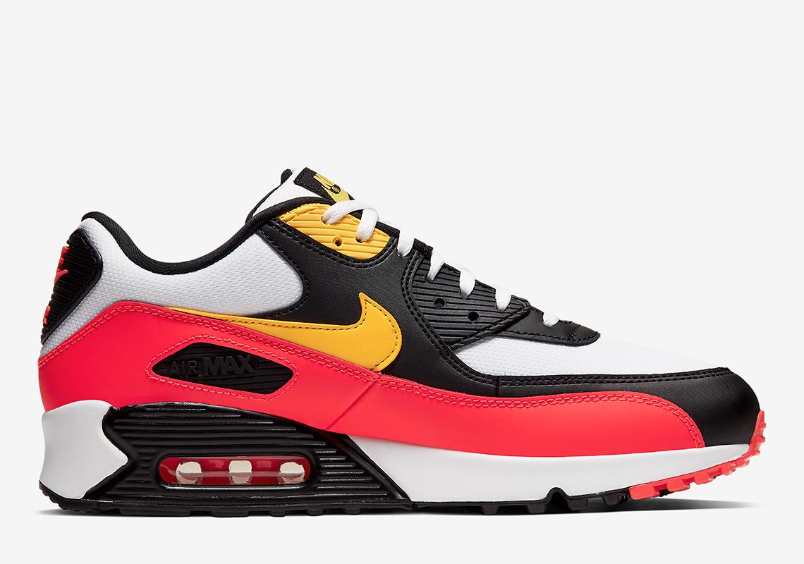 Nike Air Max 90 Black Red Yellow AJ1285