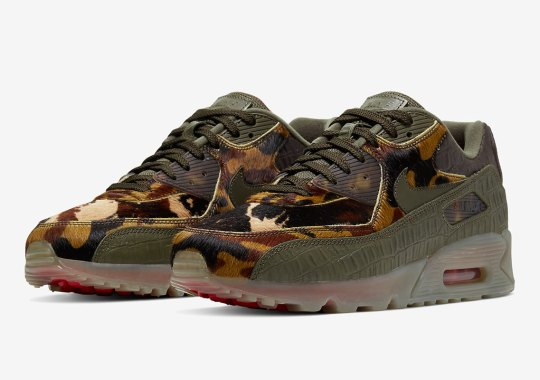 Croc-Skin And Pony Haired Camo Appears On This Swampy Nike Air Max 90