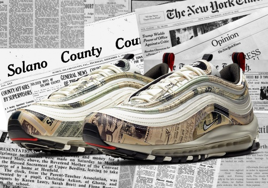 This Nike Air Max 97 Is Covered In Newspaper