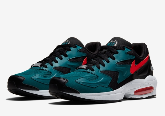 The Nike Air Max 2 Light Pairs Up Teal And Crimson Red