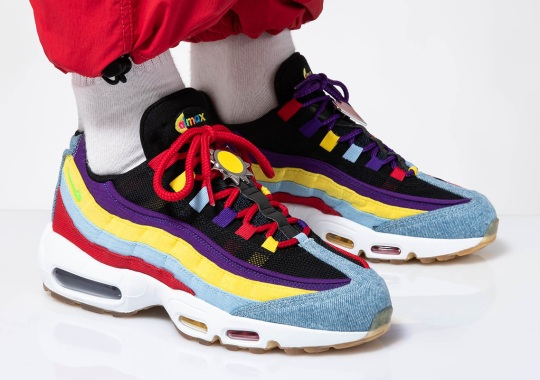"The Nike Air Max 95 SP ""Multi-Color"" Includes Giant Lace Locks"