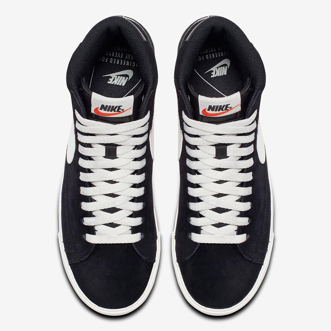 Nike Blazer Mid Black Suede AV9376 001 Release Info