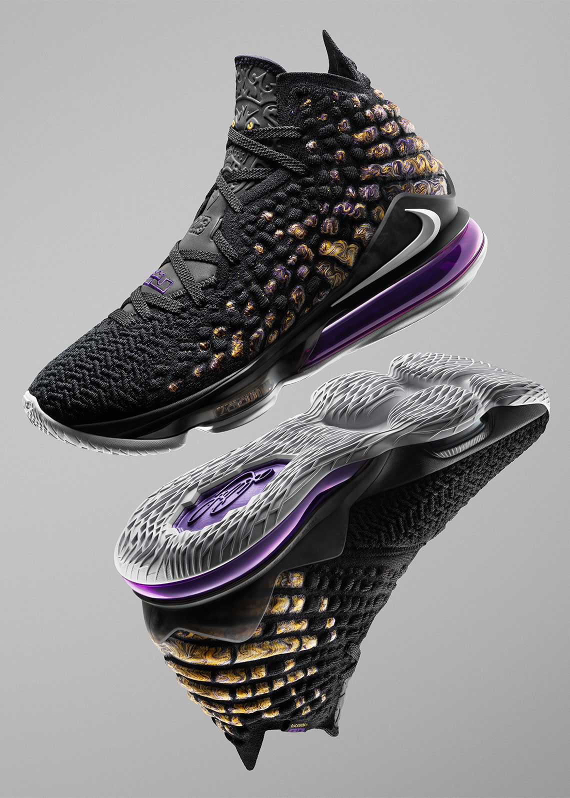 estómago perdí mi camino este  Nike LeBron 17 Lakers Purple Yellow | SneakerNews.com