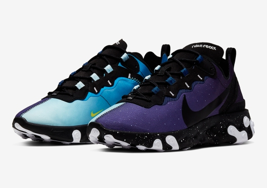 """The Nike React Element 55 Depicts """"Day And Night"""" With The Sun And A Starry Sky"""