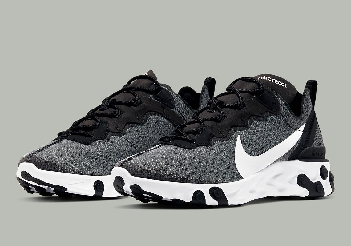 Nike React Element 55 Black White