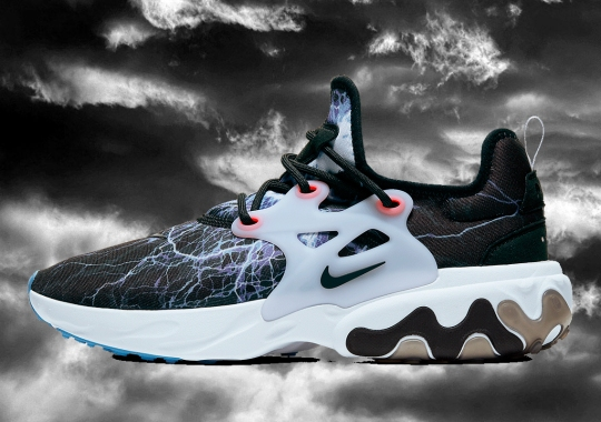 """Nike Revives The """"Trouble At Home"""" Lightning Graphic On The React Presto"""
