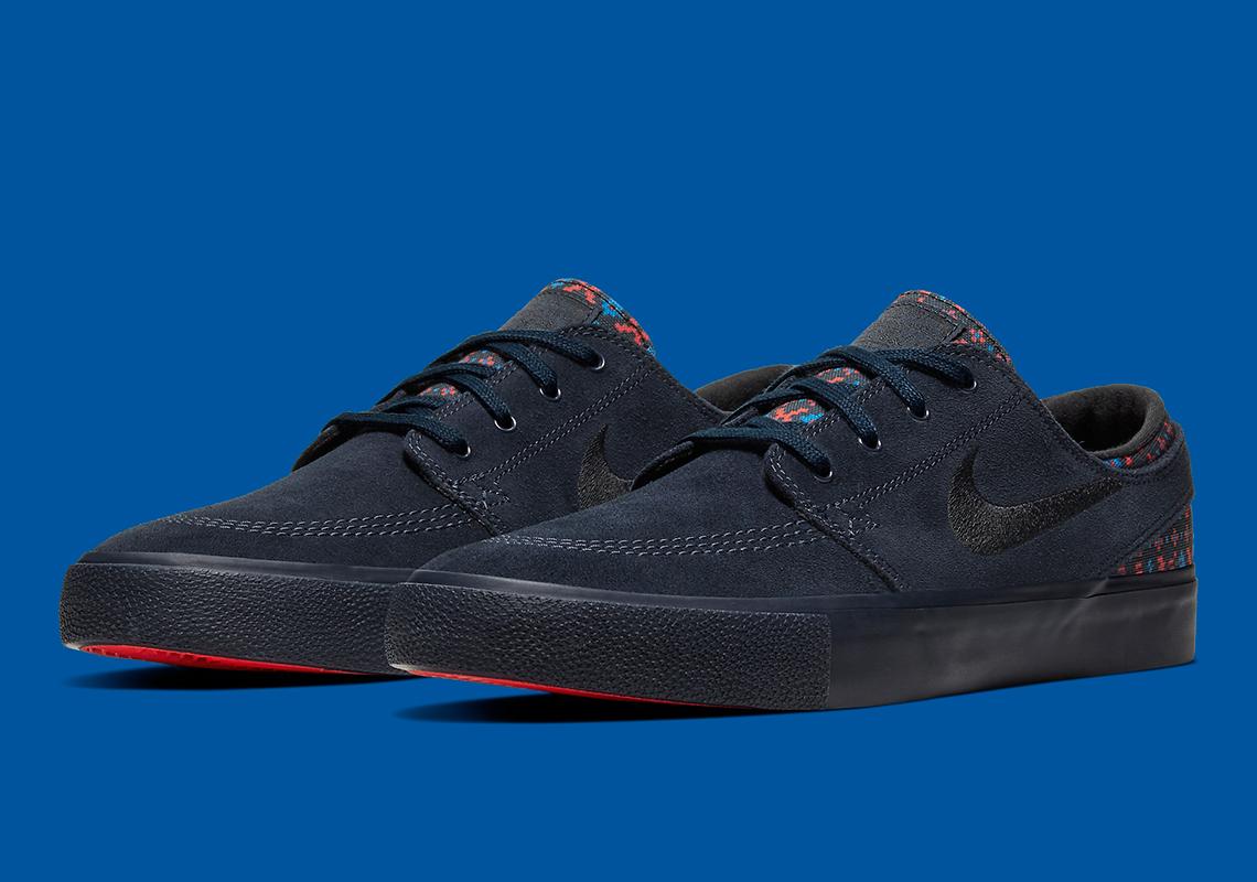 The Nike SB Stefan Janoski Premium Utilizes Aztec Inspired