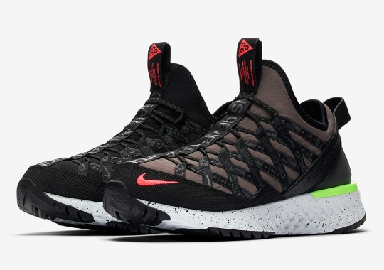 The Nike ACG React Terra Gobe Adds Ridgerock And Crimson Uppers