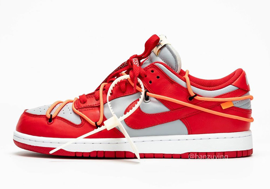Off White Nike Dunk Low University Red Release Info