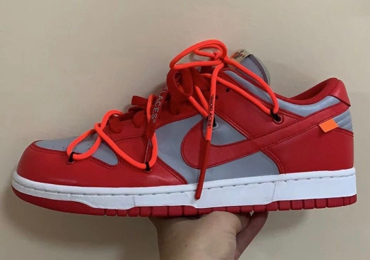 "The Off-White x Nike Dunk Low Will Release In ""University Red"""