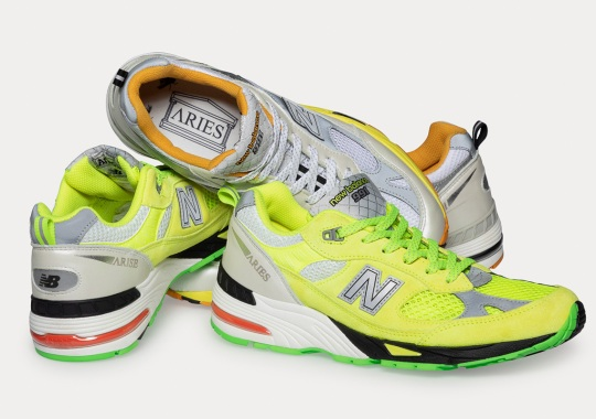 Aries Studies The Intersection Between Sportswear And Fashion With Their New Balance 991s