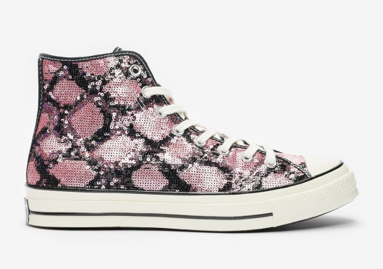 The Converse Chuck 70 With Sequined Snakeskin Prints Is Available Now