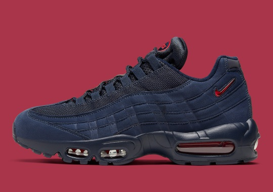 The Nike Air Max 95 SC Jewel Appears In Navy And Red