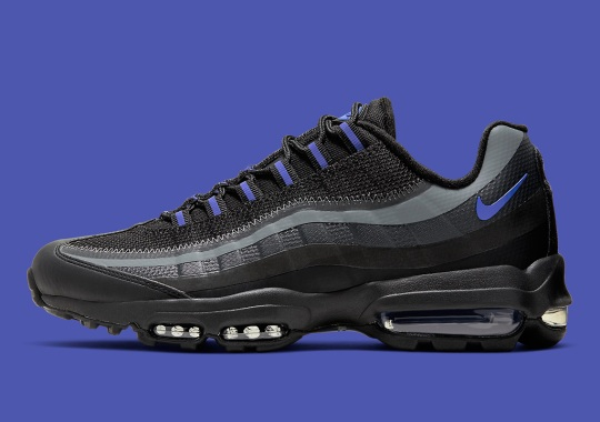 The Nike Air Max 95 Ultra Uses Black And Purple Shades To Blend In With The Night