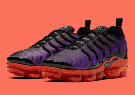 The Nike VaporMax Plus Brightens Up In Purple And Orange