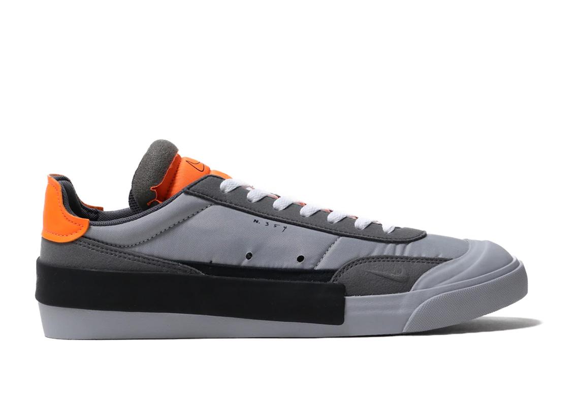 Nike Drop Type LX Wolf Grey Total Orange AV6697 002 Release