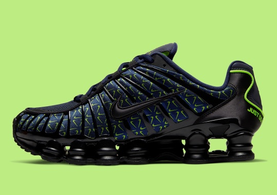 """The Nike Shox TL """"Just Do It"""" Adds All-Over-Print Swooshes"""