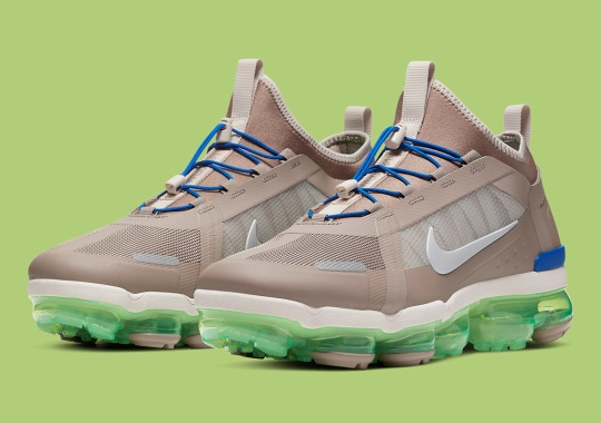 The Nike Vapormax Utility 2019 Applies Contrasting Beige And Neon Hues