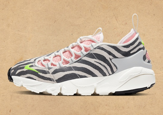 """The Nike Air Footscape """"No Cover"""" Goes Punk With Zebra Patterns"""