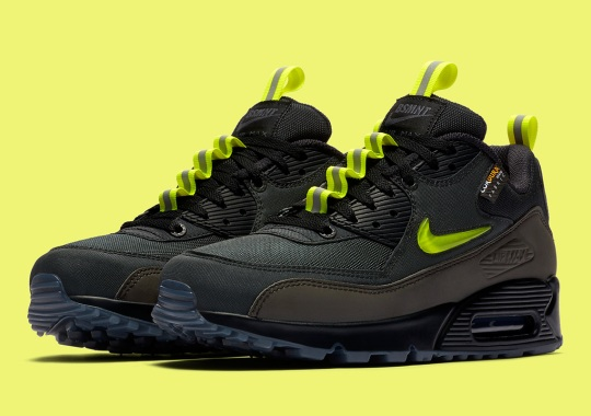 "The Basement Adds Jewel Swooshes To The Winterized Air Max 90 ""Manchester"""