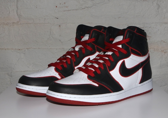 "Air Jordan 1 Retro High OG ""Bloodline"" Features Tumbled Leather With Red Piping"