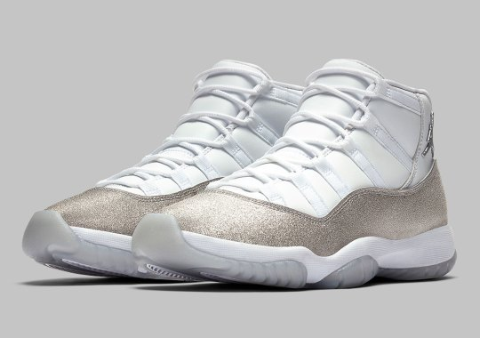 "Official Images Of The Air Jordan 11 ""Metallic Silver"" For Women"