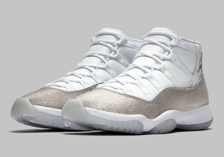 """Official Images Of The Air Jordan 11 """"Metallic Silver"""" For Women"""