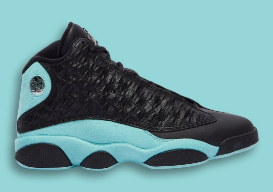"Air Jordan 13 ""Island Green"" Adds Lux Croc Skin Uppers"