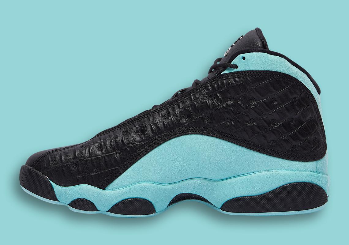 "Air Jordan 13 ""Island Green"" Adds Lux Croc Skin Uppers"
