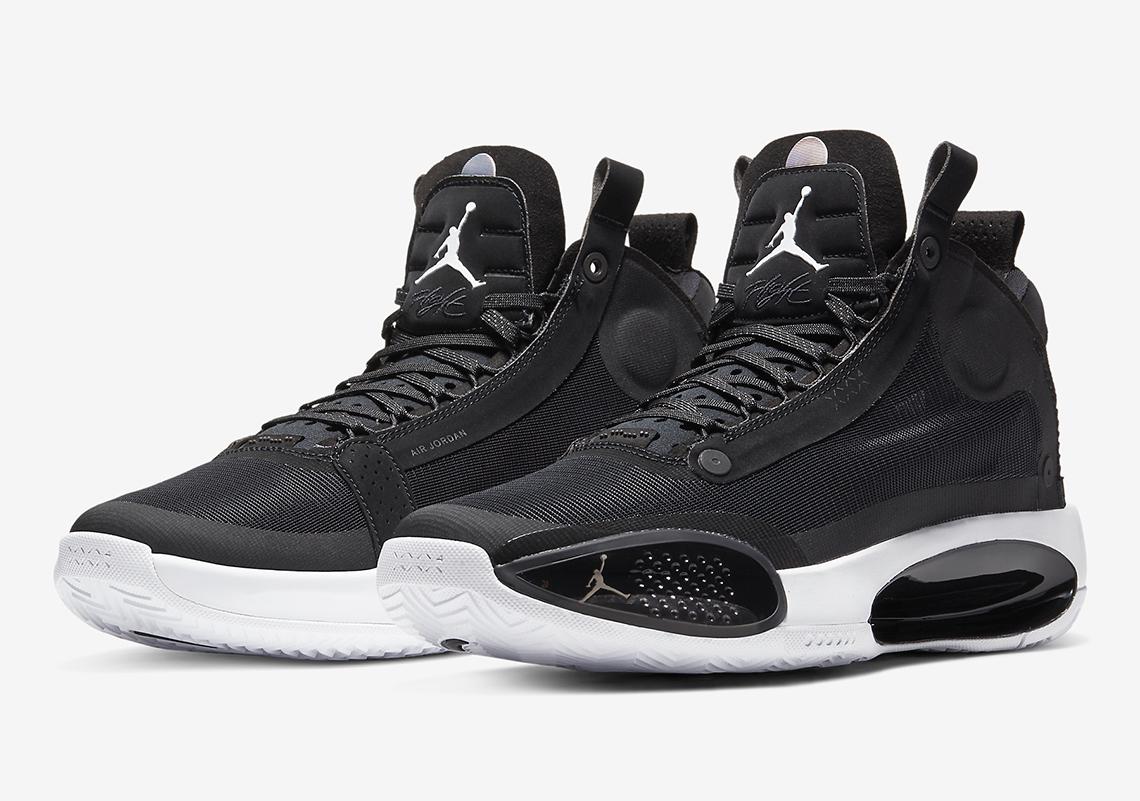 Cena obniżona przedstawianie duża obniżka Air Jordan XXXIV 34 Black White Eclipse AR3240-001 ...