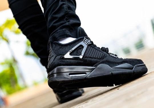 """On Foot Look At The Air Jordan 4 """"Pony Hair"""""""