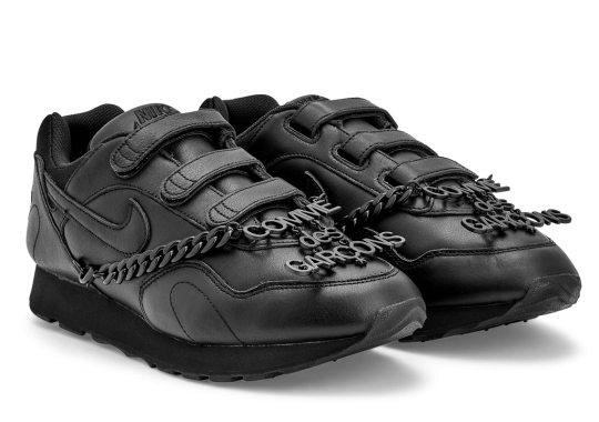 Comme des Garçons Adds Oversized Chains To The Nike Outburst