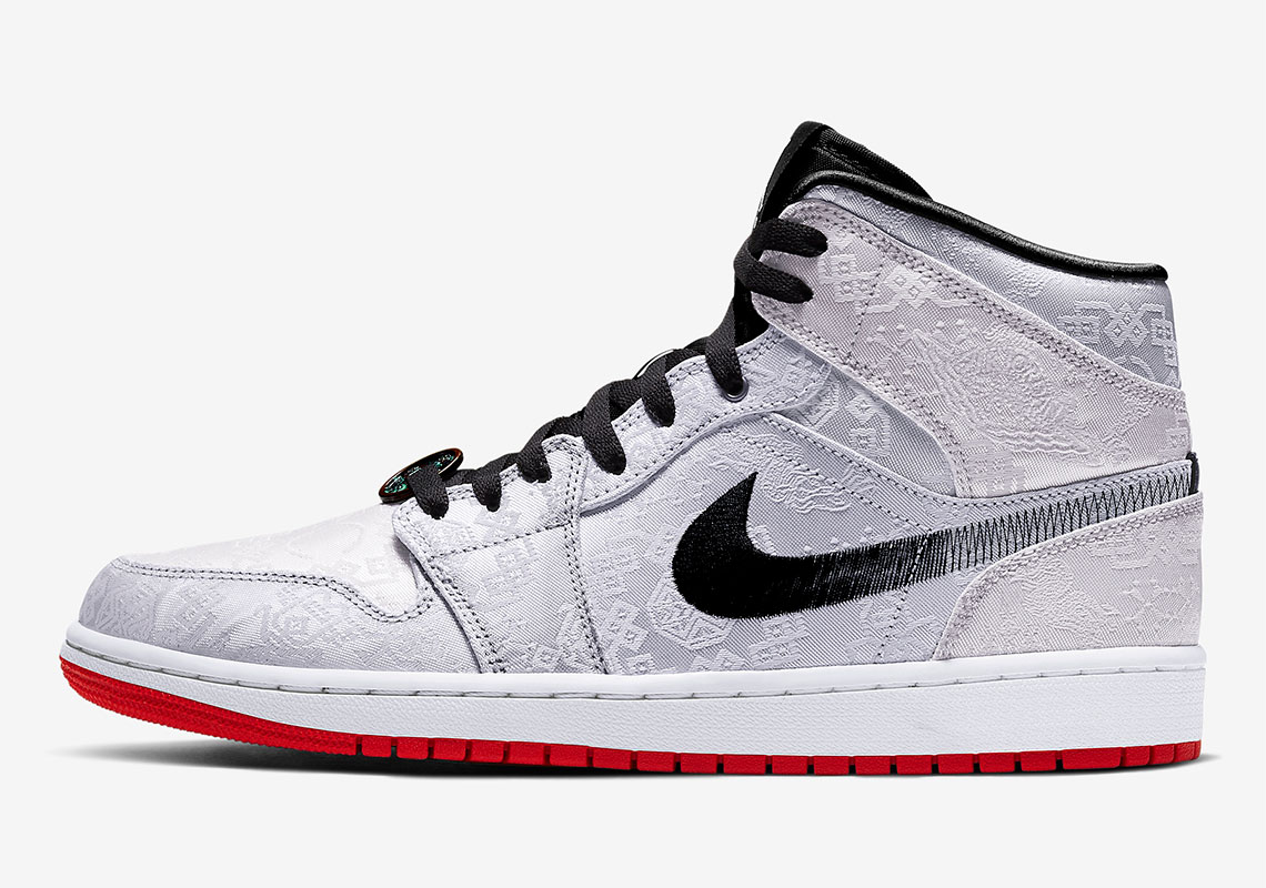 CLOT x Air Jordan 1 Mid Officially Unveiled With Silky Patterns: Release Details