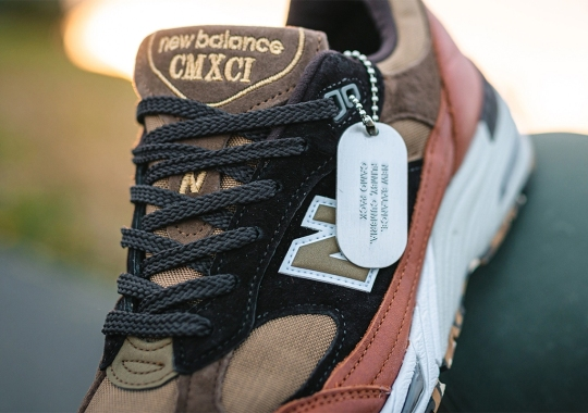 "Military Themes Arrive On This New Balance 991 ""Camo Pack"""