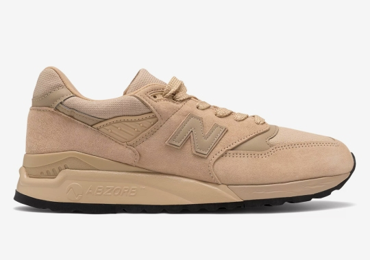 The New Balance 998 Gets A Monochromatic Tan Upper