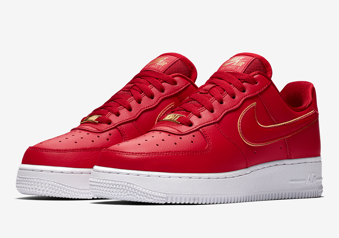 Nike Air Force 1 Low Gold Swoosh