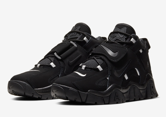 The Nike Air Barrage Mid Is Coming Soon In An Aggressive Black Colorway